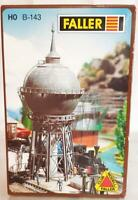 FALLER B-143 HO KIT - HALTINGEN WATER TOWER & BUILDINGS - 9.9 x 9.9 x 24 cm