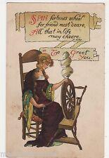Spin Fortunes Wheel Art Postcard, B524