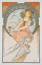 Mucha Foundation The Arts Painting Fine Art Limited Edition Lithograph COA S2