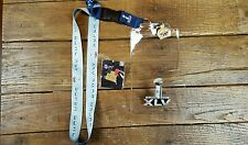 Super Bowl XLV Ticket Holder Lanyard & TWO Lapel Pins Steelers Packers 02.06.11