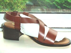 (BN) BARBOUR Tan Leather Sandals Sz. 5
