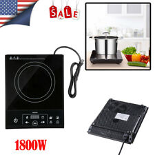 1800W Electric Induction Cooktop Countertop Single Cooker Burner Stove Hot Plate