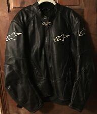 Men's Alpinestars Stage Black Perforated Leather Motorcycle Jacket US Size 50