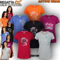 Regatta Womens T Shirt Short Sleeve Running Hiking Camping Gym Sport Yoga Fingal