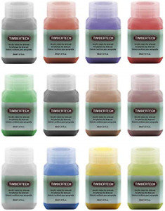 TIMBERTECH Acrylic Paints Airbrush Colors 12 * 30ml Model Air Base Multicolour