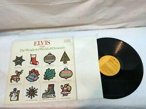 ELVIS SINGS THE WONDERFUL WORLD OF CHRISTMAS -1971 RCA Very Good +