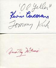 OLD YELLER CAST DOROTHY MCGUIRE ACTRESS KEVEN CORCORAN SIGNED CARDS AUTOGRAPH