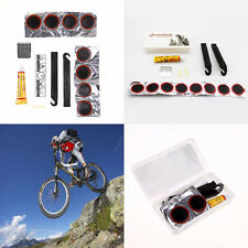 1 Set Bicycle Bike Tire Tyre Repair Tools Kit Patch Rubber Portable Box Outdoor.