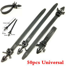 Universal 50pc Car Bundled Wire Band Tie wrap Clamp Fastener Clips For Loom Hose