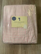 Pottery Barn French Rose Bedshirt Pink & White King