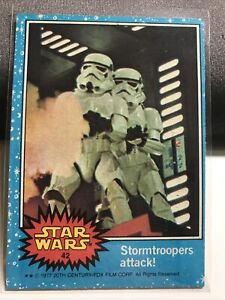 1977 Topps Star Wars Series 1 #42 Stormtroopers Attack - AWESOME CONDITION NM !