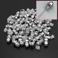 50 Pcs 5mm Silver Tone Chrome Metal LED Bezel Holder Panel Display Hot