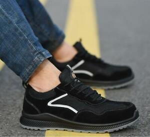 Men's Safety Shoes Wear-Resistant Non-Slip Breathable Ultra-Light Comfortable UK