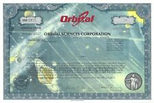 New listing Orbital Sciences Corporation.2002 Common Stock Certificate