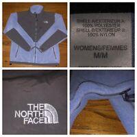 The North Face Women's Blue Polartec Full Zip Denali Fleece Jacket Size Medium