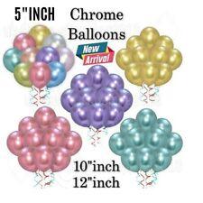 "12""10""5""Chrome Balloon Shiny thick Birthday Wedding Anniversary Baby ShowerParty"
