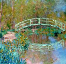 Claude Monet Japanese Bridge canvas print giclee 8X8&12X12 reproduction art