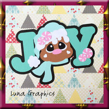 JOY GINGERBREAD Embellishment Card toppers &  Paper Piecing scrapbooking