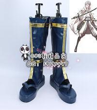 Touken Ranbu Online Tsurumaru Kuninaga Blue Cosplay Shoes Boots X002