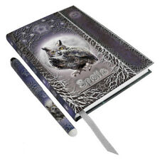 Spells Book Witches Journal Diary Shadow Shadows Spell Wicca Witch Pagan Owl Pen