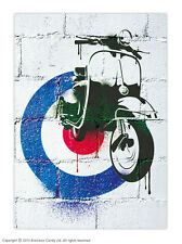 Brainbox Candy Mod Scooter Vespa Poster vintage retro 60s target print picture