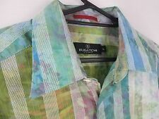 Bugatchi Uomo Men's Button down Long Sleeve Shirt Large Striped Multicolor