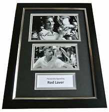Rod Laver Signed A4 FRAMED Photo Mount Autograph Display Tennis Champion & COA
