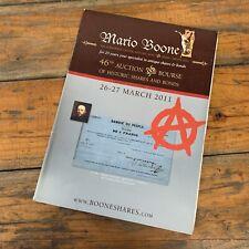 2011 Mario Boone Antwerp Scripophily Historic Shares & Bonds Auction Catalogue