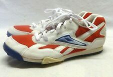 Vintage Men's Red White Blue Reebok Track Cleats Spikes Shoes 8.5