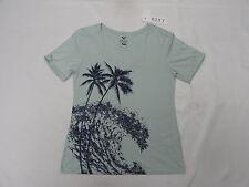 Roxy Woman Great Wave New V A Green (BFR0) V-Neck Top T-Shirt Tee Sz Medium