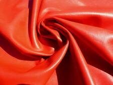 Lambskin sheepskin leather hide Large Dark Red Orange glove soft