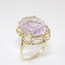 10K Yellow Gold Purple Spinel Cocktail Ring Size 8.25 GGC