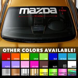 "MAZDA Windshield Banner Vinyl Heat Resisted Long Lasting Decal Sticker 30""x5"""