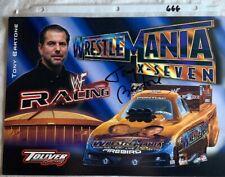 Signed Tony Bartone Wrestlemania X-Seven Firebird Racing Photo Card N 666