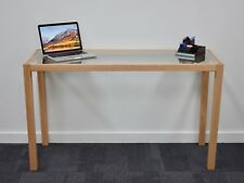 Office, study, student desk with solid timber frame and tempered glass insert