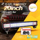 20'' 126w Combo Led Light Bar+Wiring Harness Kit OffRoad SUV 4WD ATV lamp 20inch