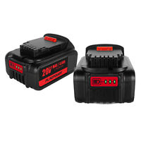 2pack For Dewalt DCB182 4000mAh 20V Li-ion Battery DCB200 DCB204-2 DCB180 DCB181