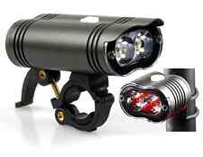 NIPRO MR1 1600 Lumen FRONT & REAR Bicycle Bike Light Set USB Rechargeable