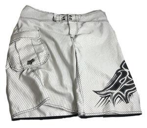 Fox Head Racing Swim Trunks Shorts Board shorts  Mens Size 34 White