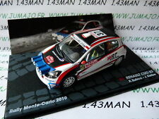 macchina 1/43 IXO altaya ITALIA Rally Installa Carlo 2010 RENAULT CLIO R3 Kubica
