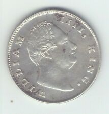 "British India 1835 F one rupee silver coin King William ""D"" GOOD GRADE"