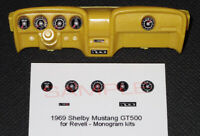 1969 FORD SHELBY MUSTANG GT500 GAUGE FACES for 1/25 scale REVELL - MONOGRAM KITS