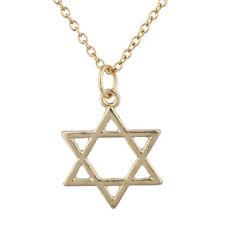 Lux Accessories Gold Tone Star of David Hanukkah Jewish Charm Pendant Necklace