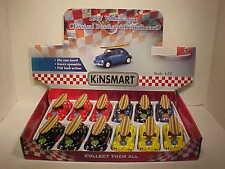 Pack of 12 VW Bug Volkswagen Beetle 1967 Diecast Car 1:32 Kinsmart 5in Surfboard