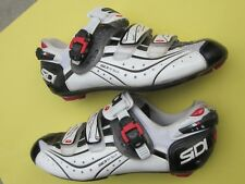 Sidi Genius 6.6 Carbon Vent 3-bolt, Mega 42 Euro / US 8.5, Blk/white road shoe