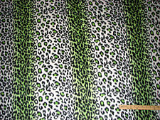 Lime Green Leopard Jaguar Animal Skin Fleece Fabric   by the Yard