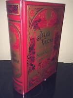 JULES VERNE SEVEN NOVELS -  LEATHERBOUND HARDBACK BOOK
