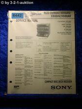 Sony Service Manual HCD D890AV XB55AV XB80AV XB88AV (#6442)