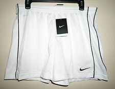 "NIKE Women's Academy Mesh Soccer Athletic Sports Shorts ""WHITE/BLACK"" Size L New"