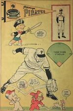 """Vintage 1976 Pittsburgh Pirates MLB Full Comic Book Ad-Page 6"""" x 9"""""""